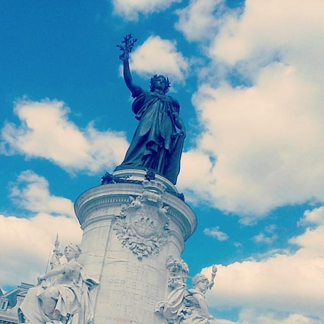 The monument in Place de la République