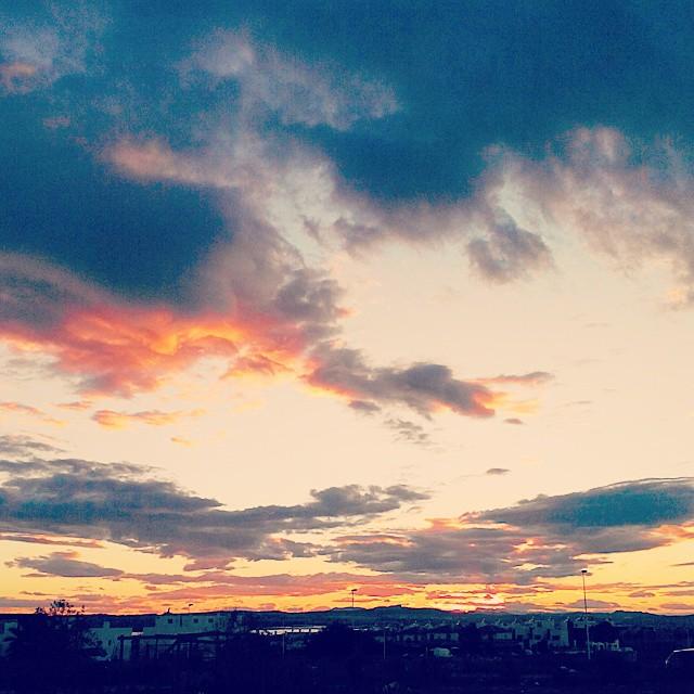 A sunset. October, 14, 2014