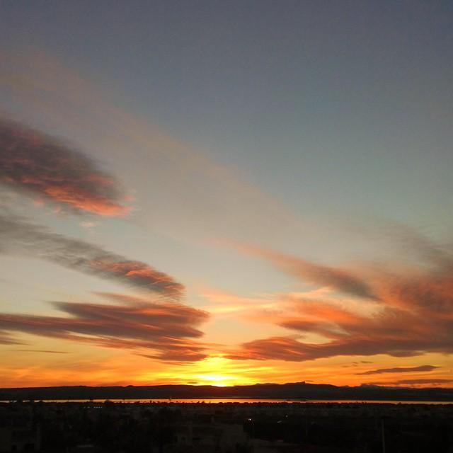 Sunset over Salina de Torrevieja