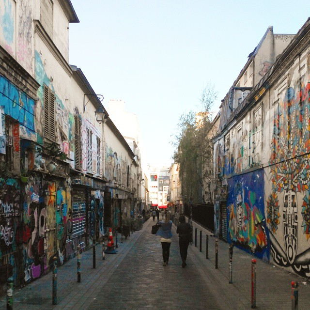 The Graffiti Street - Rue Dénoyez, Paris France