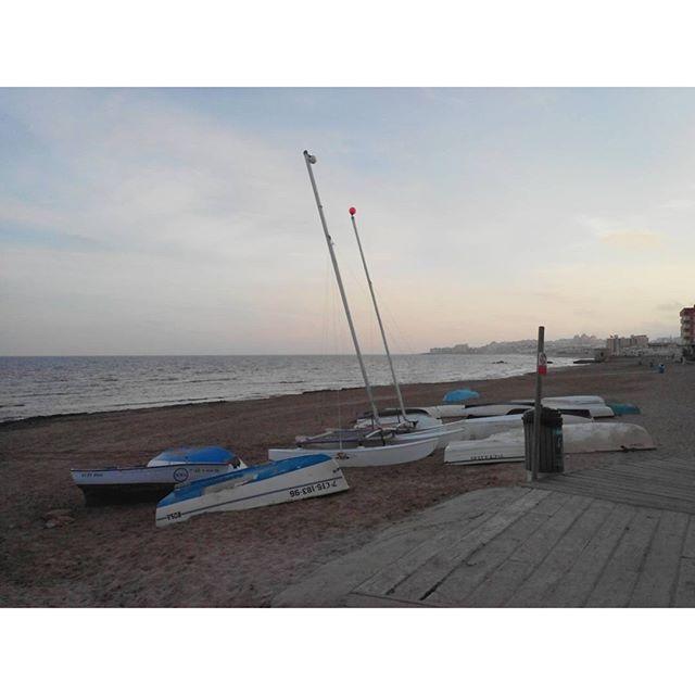 Boats at La Mata Beach North